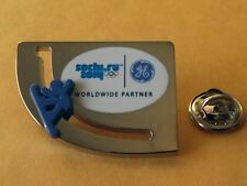 SOCHI 2014 Olympic GE (General Electric) Snowboarder sponsor rare moving pin