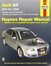 Haynes AUDI A4 B6 B7 (02-08) T QUATTRO SE Owners Service Repair Manual Handbook