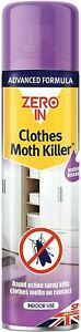 Aerosol Moth Killer Spray Zero In Clothes 300ml Fresh Clothes Protector Insect
