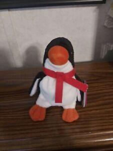 Avon Full O' Beans Flapper the Penguin January Birthstone Plush 1999 New