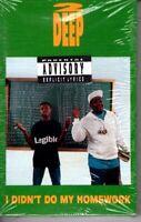 NEW 2 Deep I Didn't Do My Homework 1990 Cassette Tape Single Rap Hiphop