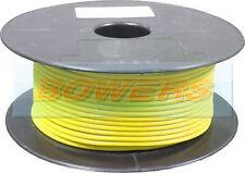 100m GIALLO parete sottile Cavo Single Core 16/0.20 0.5 mm Auto Cablaggio Auto Furgone Marino