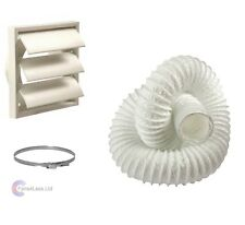 """Tumble Dryer Kit 100mm Wall Vent Hose Venting Cover 4"""""""""""