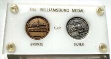 Usa Williamsburg 2 Medals - Silver - Bronze 1962