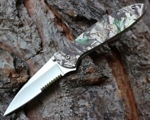 Kershaw Leek 1660RTST RealTree Camo Part Serrated Assisted Open Pocket Knife NEW