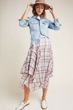 New Anthropologie Frances Plaid Midi Skirt by Dolan Left Coast  $188  SMALL