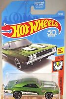2018 Hot Wheels #92 Muscle Mania 6/10 '69 DODGE CHARGER 500 Green w/Black MC5 Sp
