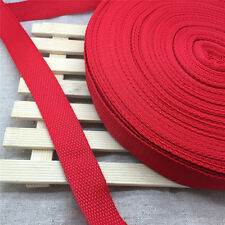 Free shipping 5Yards Length 1 Inch (25mm)Strap Nylon Webbing Strapping Red