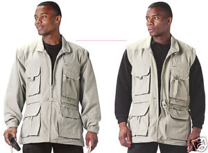 Rothco 7590 Khaki Convertible Safari Jacket