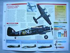Aircraft of the World Card 32 , Group 10 - Bristol Beaufighter (Fighter)