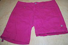 L.E.I. Juniors SIZE 15 Hot Pink Shorts Colored Denim Adjustable Length Plus