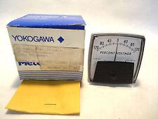 NEW YOKOGAWA 104X117CC017 120-0-120 PERCENT VOLTAGE PANEL METER