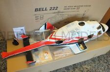 FUNKEY Bell 222 600 size fuselage RED+Retractable Landing Gear+INSTRUMENT PANEL