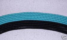 """""""10 YARDS GROSGRAIN KORKER RIBBON"""" (Turquoise/Black)"""