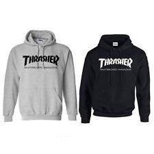 Men Women Thrasher Flame Pullover Hoodie Sweaters Skateboard Sweatshirts Unisex