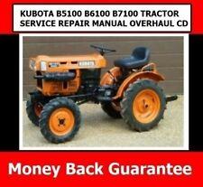 Kubota B5100 B6100 B7100 Tractor Service Repair Manual Overhaul Cd