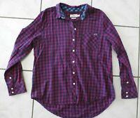 Vineyard Vines Women Sz 10 Pink Gingham Flannel Shirt Button Down Long Slv C667
