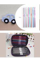 22pcs Multicoloured Metal Crochet Hooks Bearded Needles Set