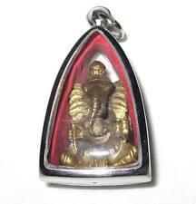 CHARM HOLY GANESH HINDU GOD THAI BUDDHA AMULET PENDANT IN FRAME OM SIGN COLLECT