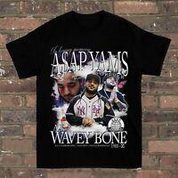 New rare Asap Yams Hip Hop rap Tour Concert  Black Men S-234XL T-shirt F382