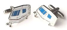 Caravan Mobile Home Crested Cufflinks (N250) Gift Boxed