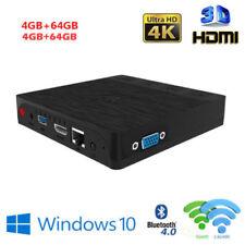Mini PC Windows 10 Atom x5-z8350 4K 4G+64GB WiFi Ethernet RJ45 Bluetooth USB