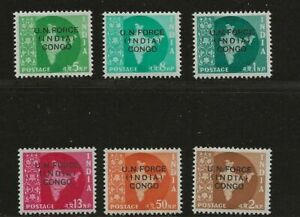 INDIA CONGO SC# 56-61 MH STAMPS
