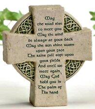 "Celtic Cross ""May Road Rise...""  3.5"" Inch Statue Catholic Irish Faith"