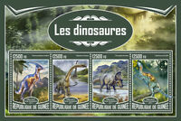 Guinea 2017 MNH Dinosaurs Diplodocus Triceratops Hadrosaurus 4v M/S Stamps