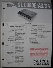 SONY SL-8000E 8000AS 8000SA Service Manual