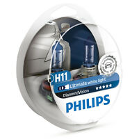 Philips Diamond Vision H11 5000K Car Headlamp Styling Bulbs (Twin) 12362DVS2