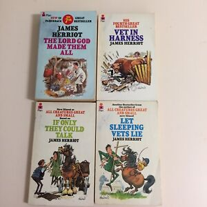 James Herriot Books Lot of 4 Paperbacks | All Creatures Great and Small