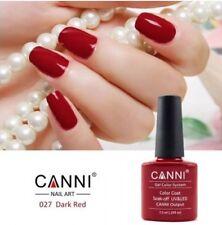 027 CANNI DARK RED UV LED SOAK OFF GEL COLORS NAIL ART 7.3ml UK SELLER