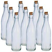 3 6 9 12 Glass Storage Oil Vinegar Bottles Cork Stopper Lid Kitchen Cruet Food