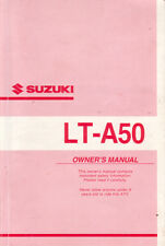 2001 Suzuki LT-A50 Owner's Manual - High Res PDF DOWNLOAD