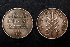 2 Mils 1927 Palestine. Bronze. KM#02