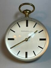 VINTAGE TIFFANY & CO. LUCITE BALL CLOCK 8-DAY RUNS, KEEPS TIME SWISS IMHOF 15 J