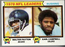 WALTER PAYTON- EARL CAMPBELL 1979 TOPPS #3 RUSHING LEADERS GD