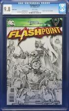 Flashpoint #2 cgc 9.8 Sketch Cover 1:25 low print run Flash movie