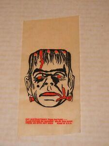 VTG 1960S MONSTER PREMIUM GIVE AWAY PROMOTIONAL IRON ON TRANSFER Frankenstein