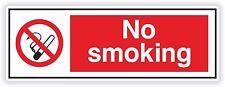 1x No Smoking Sticker for Restaurant Work Bumper Truck Helmet Door Room Bathroom