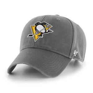NHL Pittsburgh Penguins Baseball Cap MVP Legend Charcoal 194602568584