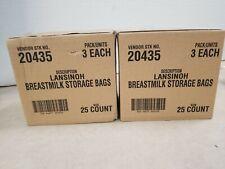 Lot of 6 Packs - Lansinoh Pre-Sterilized Breastmilk Storage Bags, 25ct