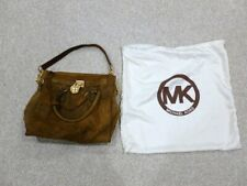 MICHAEL KORS HAMILTON LEATHER SATCHEL/ BAG UNIQUE SPECIAL DESIGN AUTHENTIC 8205