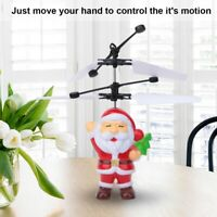 Christmas Santa Flying Mini Induction Aircraft RC Toy Suspension Drone Toys