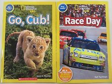 National Geographic Kids Pre-Readers Lot of 2 NEW PB Go, Cub! Race Day Ages 4-6