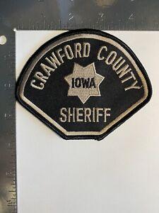 CRAWFORD COUNTY IOWA SHERIFF PATCH