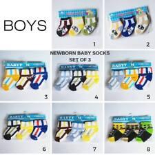 Newborn Set of 3 Socks - Boys