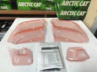 New 1999-02 Arctic Cat Orange Hood Screen Kit Clips ZRT Mountain T-cat 1639-059