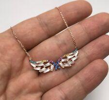 Turkish Jewelry Angel Wing Motif 925K Sterling Silver Women's Necklace